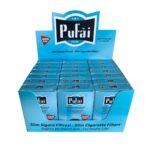 pufai slim cigarette filter-turquoise boxes-525 pieces